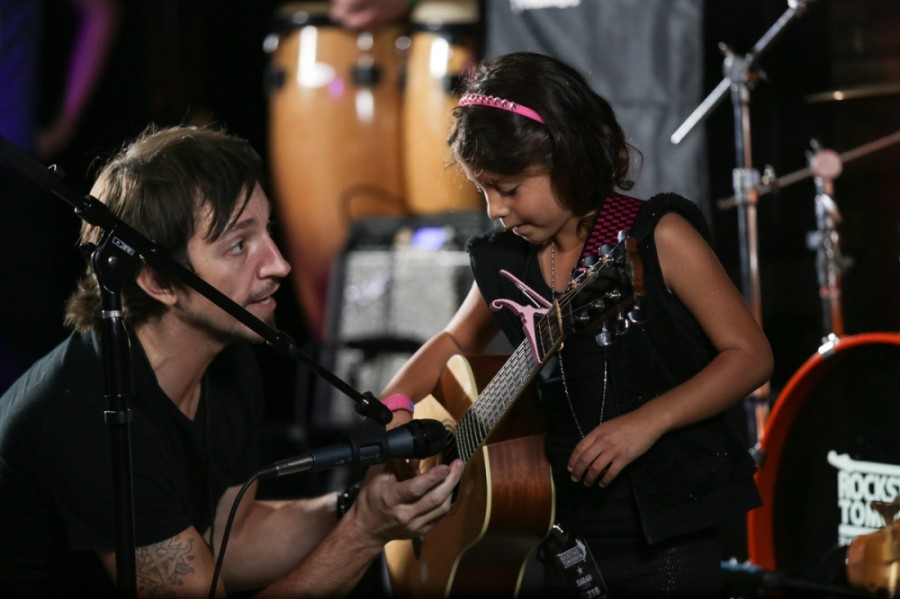 The music academy will offer lessons in guitar, voice, piano, drums, bass, ukulele, violin, songwriting, audio recording and performance. (Courtesy Rockstars of Tomorrow Music Academy)