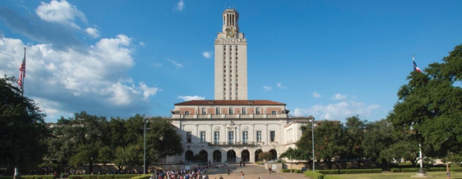 A photo of the UT tower