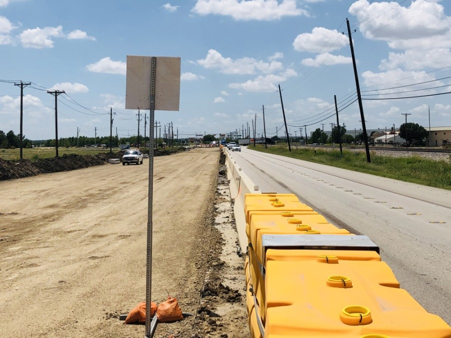The Texas Department of Transportation is in the midst of a $33.7 million overhaul of Hwy. 377 in Roanoke. (Ian Pribanic/Community Impact Newspaper)