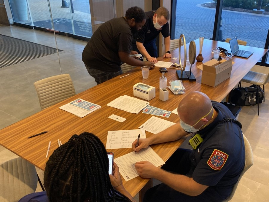 Frisco's emergency management team, which includes Visit Frisco and the Frisco Fire Department, helped secure more than 700 hotel rooms for Hurricane Laura evacuees this week. (Courtesy Frisco Fire Department)