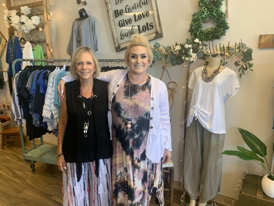 Judy and Erin Dragoo run Judy Wear Boutique in Chandler. (Alexa D'Angelo/Community Impact Newspaper)