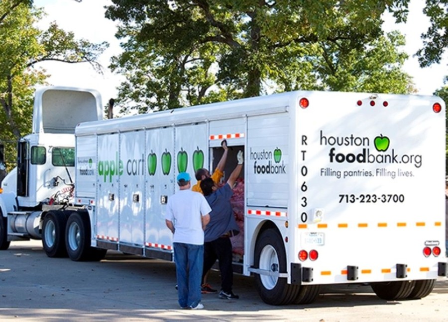 Cy-Hope has partnered with the Houston Food Bank to distribute food during the coronavirus outbreak. (Courtesy Cy-Hope)