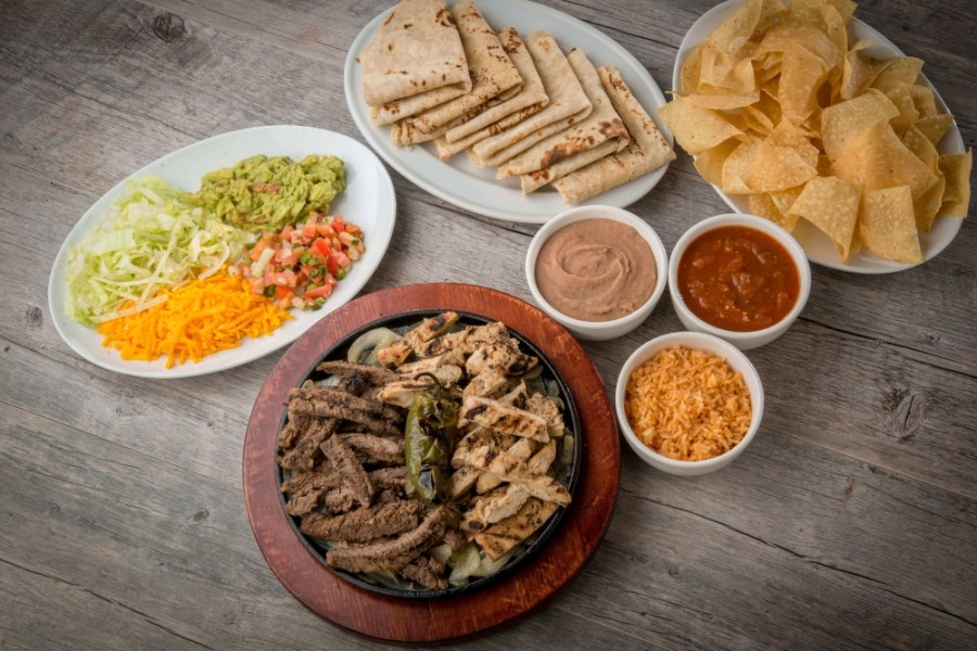 Fajita options at Fajita Pete's include beef, chicken, shrimp and veggie. (Courtesy Fajita Pete's)