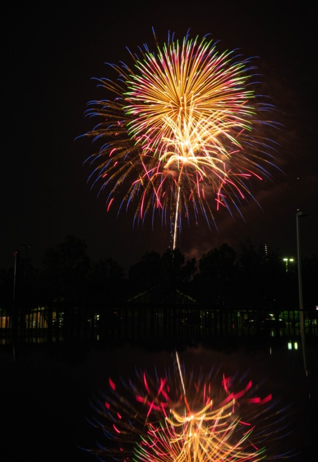 fireworks in The Woodlands