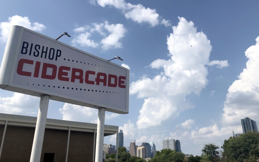 Bishop Cidercade opened Aug. 28 at 600 E. Riverside Drive in South Central Austin. (Jack Flagler/Community Impact Newspaper)