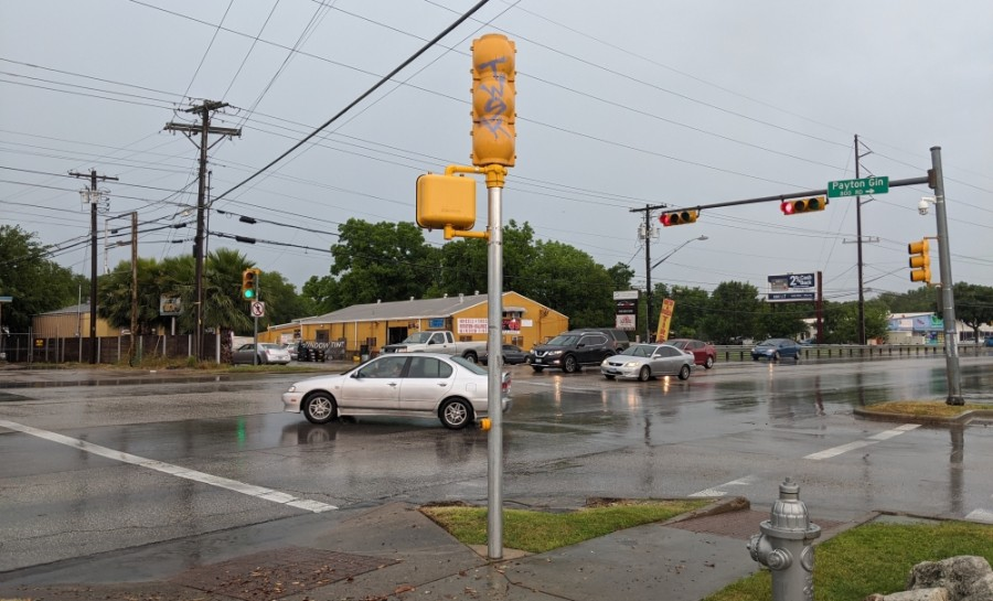 North Lamar Boulevard and Payton Gin Road intersection (Iain Oldman/Community Impact Newspaper)