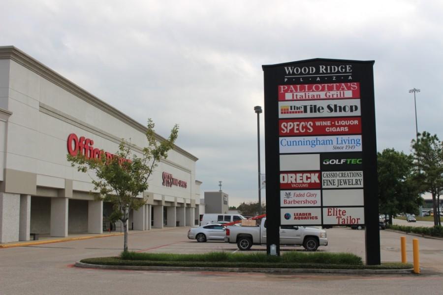 The Wood Ridge Plaza off I-45 will host the new monthly market beginning Sept. 5. (Ben Thompson/Community Impact Newspaper)
