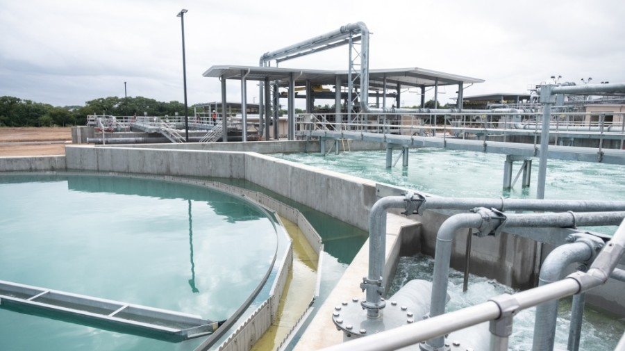 The Gruene Water Reclamation Facility is capable of treating up to 2.5 million gallons of wastewater. (Courtesy New Braunfels Utilities)