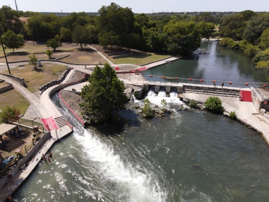 The city of New Braunfels has opened its river parks as of Sept. 9. (Warren Brown/Community Impact Newspaper)
