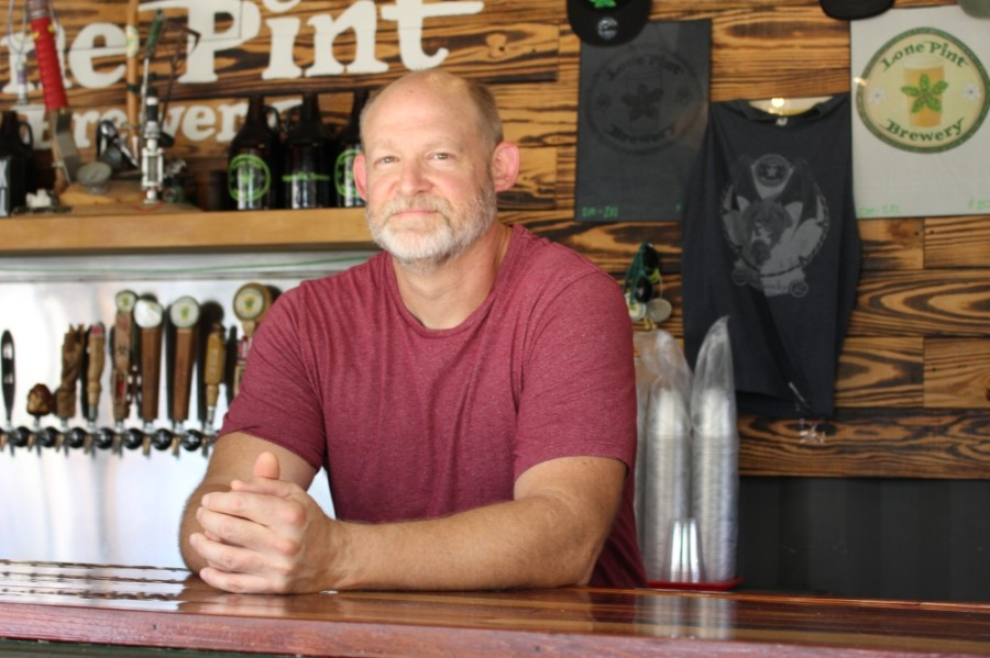 Lone Pint Brewery co-owner Trevor Brown talked about how the local alcohol industry has changed, expansion plans and how the brewery is adapting to the coronavirus pandemic. (Adriana Rezal/Community Impact Newspaper)