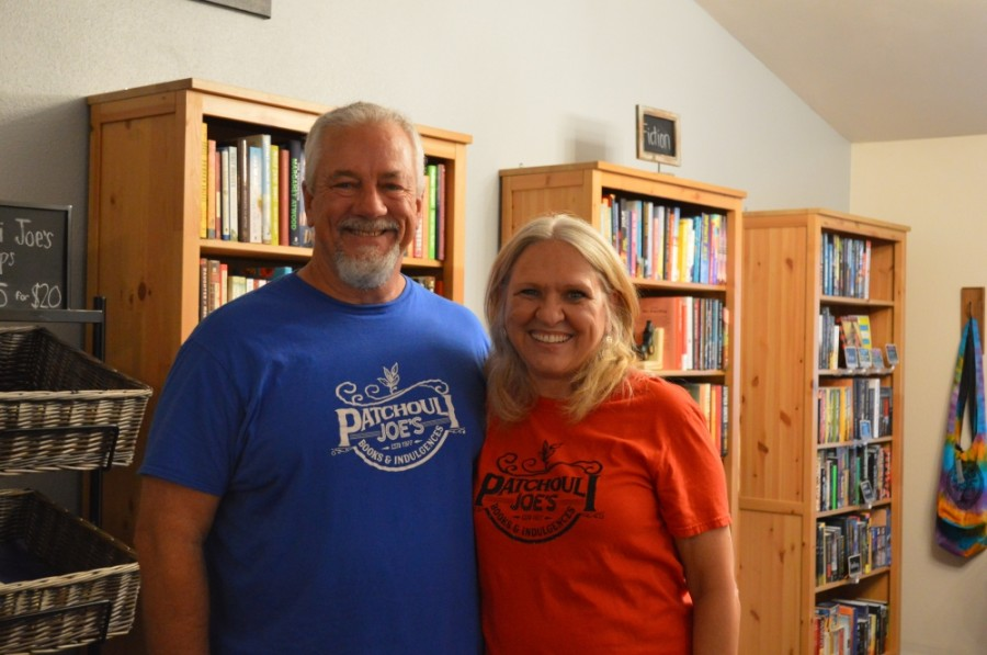 Patchouli Joe's Books & Indulgences owners Joe and Diane Mayes opened their shop in 2019. (Taylor Girtman/Community Impact Newspaper)