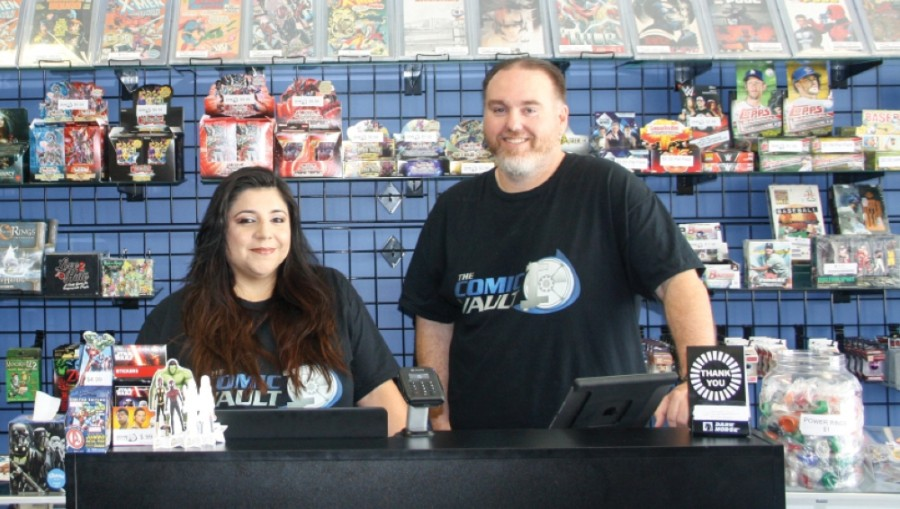 Matthew and Marisol Crowell opened The Comic Vault in 2017. (Shawn Arrajj/Community Impact Newspaper)