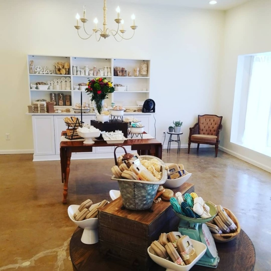 The store sells handmade body care and home products such as soaps, bath bombs, candles and wax melts. (Courtesy Sweet Home Bath + Body)