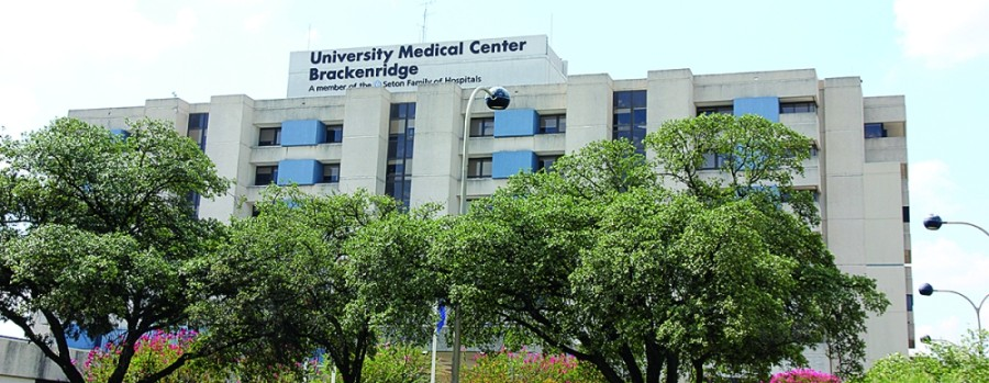 Brackenridge hosptial in downtown Austin