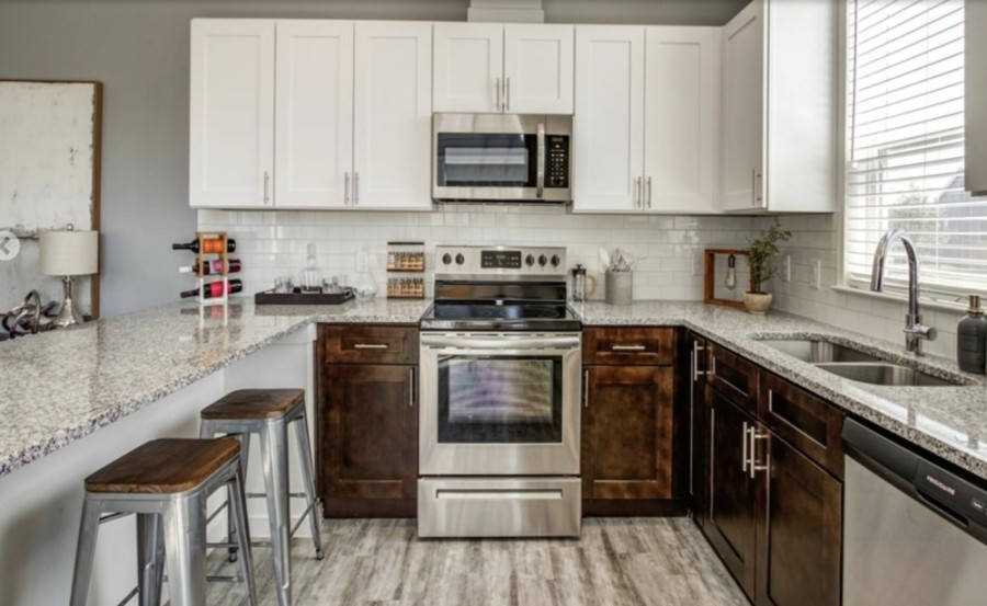 This image depicts a kitchen with Urbana at Goodnight Ranch in South Austin. Layouts and certain amenities could be similar, developers said, to the new Round Rock project proposal. (Courtesy Urban Moment)
