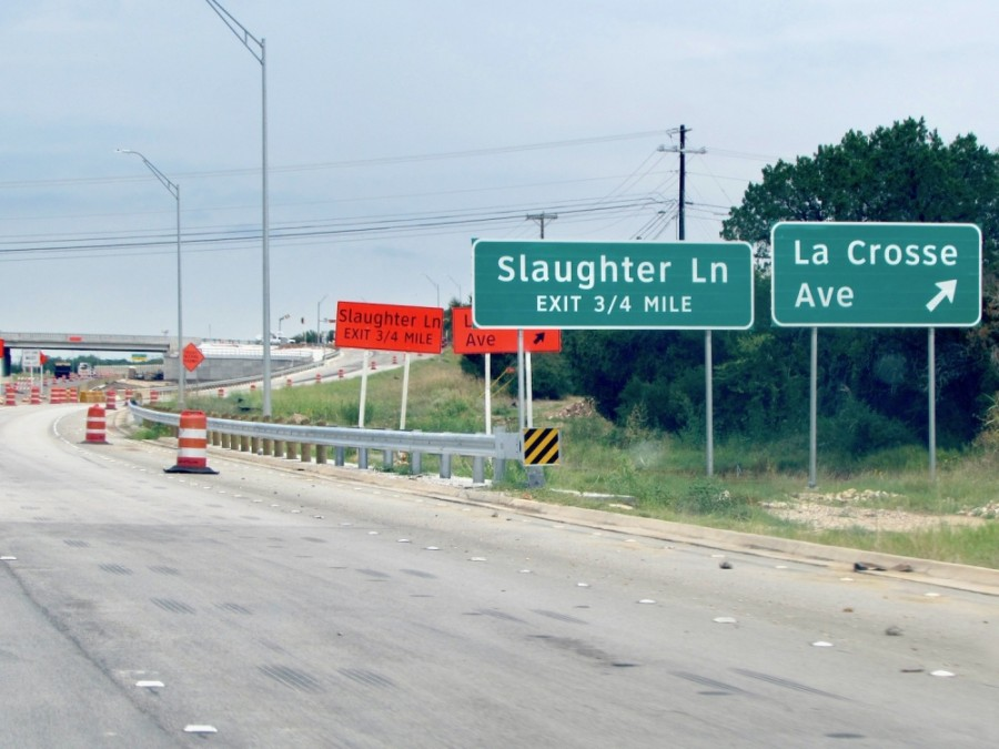 Motorists planning to take Slaughter Lane from Sept. 14-15 should look out for lane closures as the city of Austin locates utilities along the roadway west of MoPac. (Nicholas Cicale/Community Impact Newspaper)
