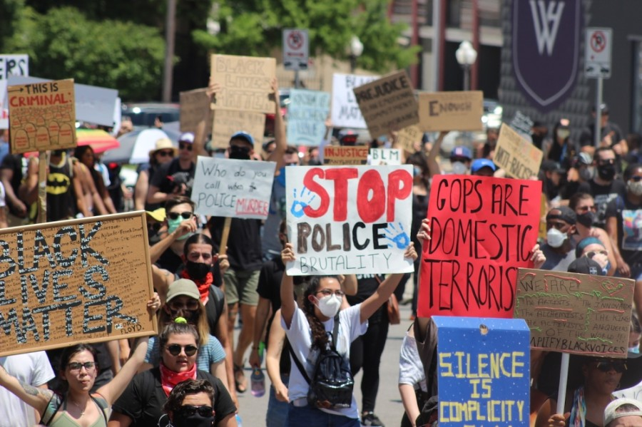 Protesters march in the Justice for Them All demonstration June 7. (Christopher Neely/Community Impact Newspaper)