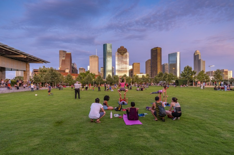 Buffalo Bayou Park will celebrate its fifth anniversary in October. (Courtesy Geoffrey Lyon/Visit Houston)