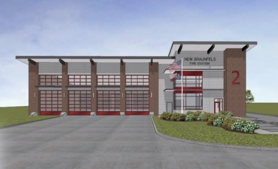 New Braunfels City Council approved a construction contract for two new fire stations as part of the city's 2019 bond program. (Rendering courtesy city of New Braunfels