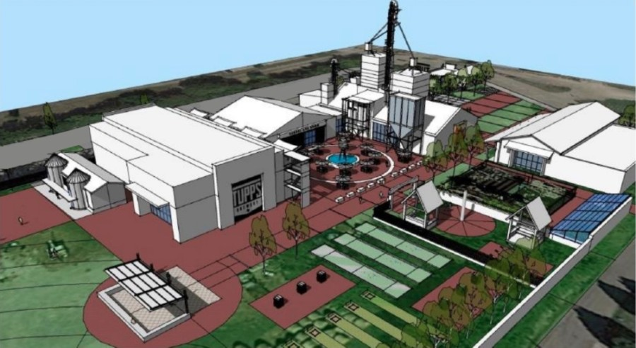 Tupps is partnering with the city of McKinney to relocate and expand into the city's historic grain site. (Rendering courtesy city of McKinney)