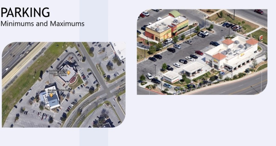 Council's unanimous approval Sept. 14 effectively allows for the temporary reduction of the minimum number of parking spaces required and allows restaurants to use those spaces for dining areas. (Screen shot courtesy city of New Braunfels)
