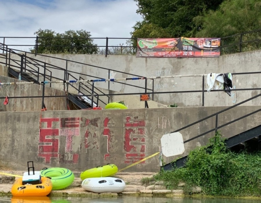 Tubing and river outfitters are still barred from normal operations, but the city of San Marcos will open most parks and river access beginning Sept. 16. (Heather Demere/Community Impact Newspaper)