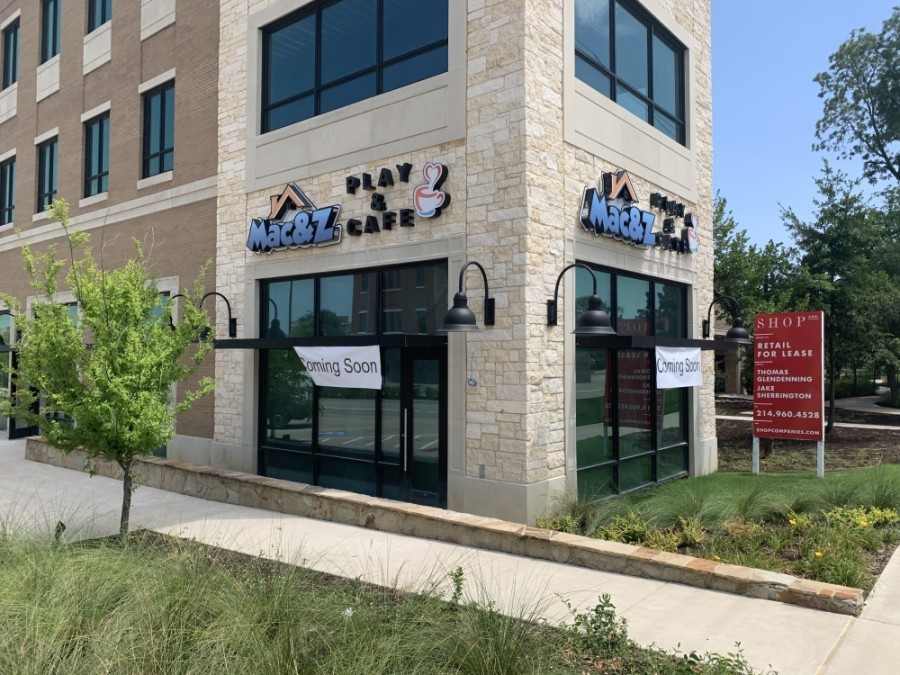 Mac&Z is aiming for an early October opening for its cafe and children's play area in Flower Mound. (Community Impact staff)