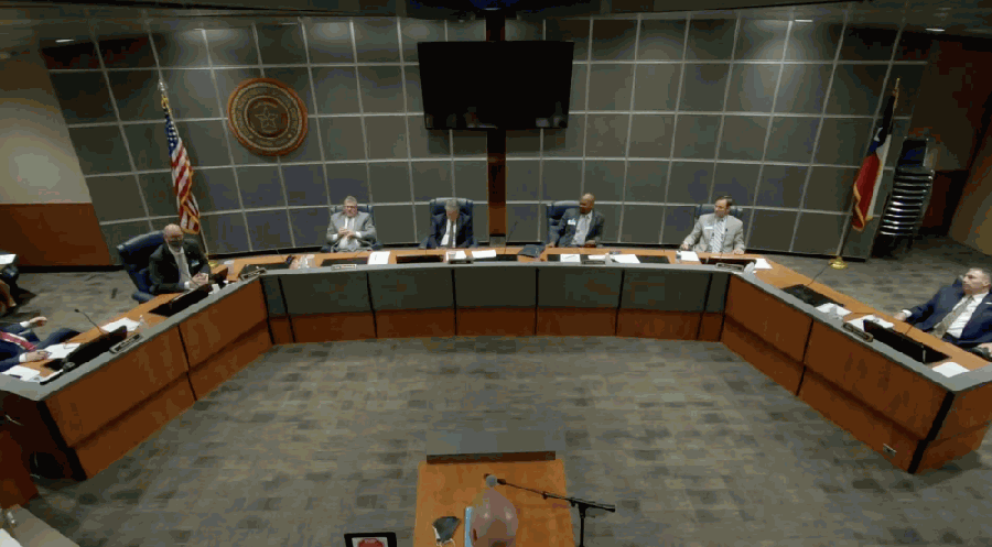 Conroe ISD's board of trustees met for a regular meeting Sept. 15. (Screenshot via Conroe ISD YouTube)
