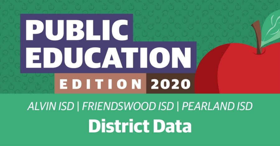 A look at 2019-20 data for Alvin, Friendswood and Pearland ISDs. (Community Impact Newspaper staff)