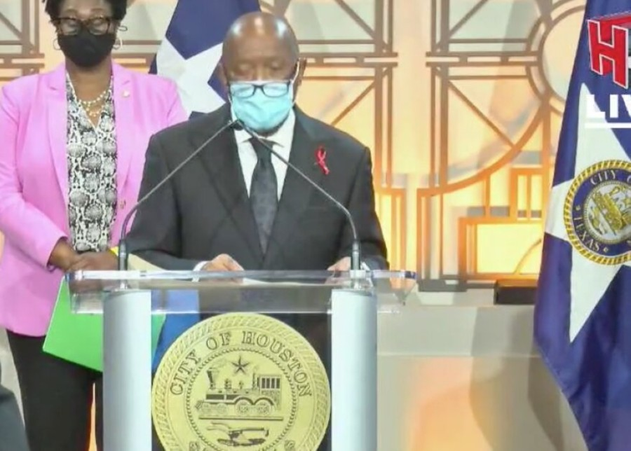Mayor Sylvester Turner has announced a public awareness and cleanup campaign to target PPE litter. (Courtesy HTV)