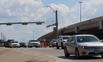 Vehicles drive alongside the Tomball Tollway in Harris County. (Anna Lotz/Community Impact Newspaper)