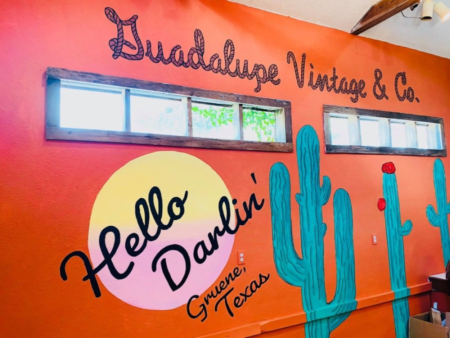 The new shop will be located next to BarBelles Boutique. (Courtesy Guadalupe Vintage & Co.)