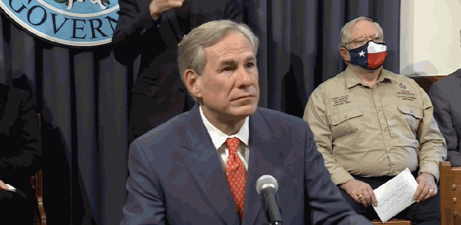 Gov. Greg Abbott said Sept. 17 that data from Texas' 22 hospital regions will dictate when certain businesses can reopen at 75% capacity. (Screenshot of Sept. 17 press conference)