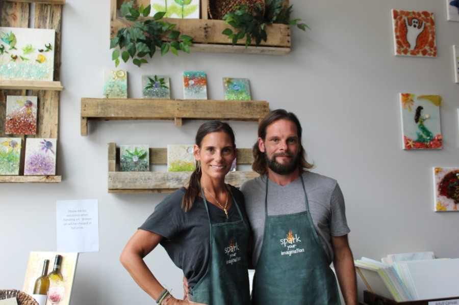 Lynn Harnen and RJ Chesna opened Spark: An Art Studio in late August at Hill Center Brentwood. (Photos by Wendy Sturges/Community Impact Newspaper)