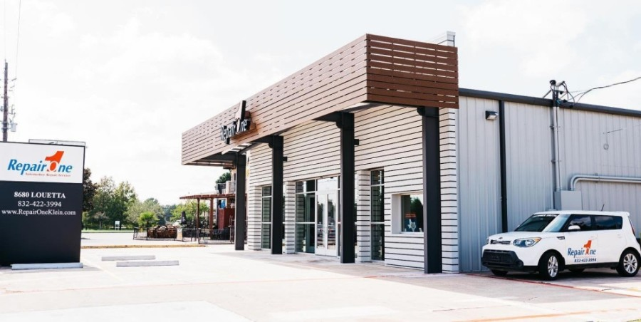 The automotive repair and service shop offers engine maintenance, alignments, transmission services and inspections, among other services, and features a children's playroom. (Courtesy Repair One Automotive)