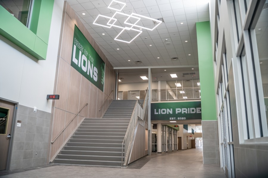 The Spring High School Ninth-Grade Center is a 147,000-square-foot, two-story building located at 19640 Lockridge Drive, Spring. (Courtesy Spring ISD)