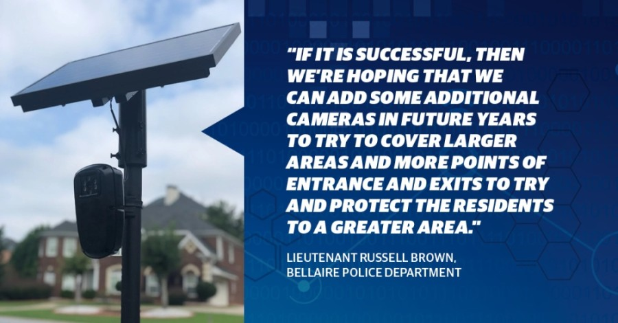 Bellaire will soon start a pilot program for automated license plate readers. (Photo courtesy Flock Safety)