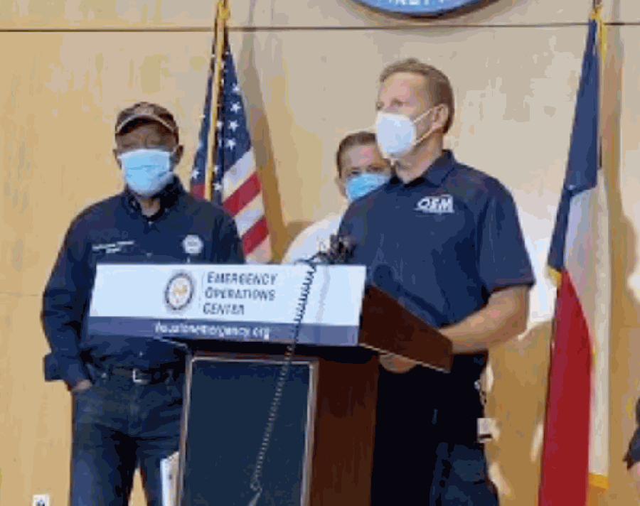 George Buenik, Houston's director of safety and homeland security, urged residents to stay home throughout the day and evening Sept. 22. (Courtesy Houston Office of Emergency Management)