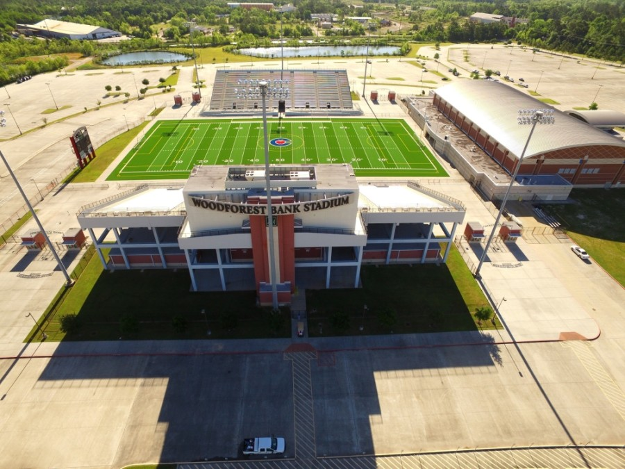 Conroe ISD's six high schools will host football games at Woodforest Bank Stadium and Moorhead Stadium this fall. (Courtesy Conroe ISD)