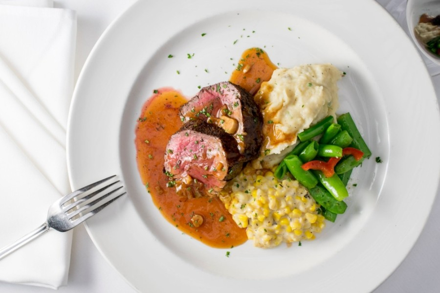 The steakhouse serves steak, lobster, seafood and wine. (Courtesy III Forks Prime Steakhouse)