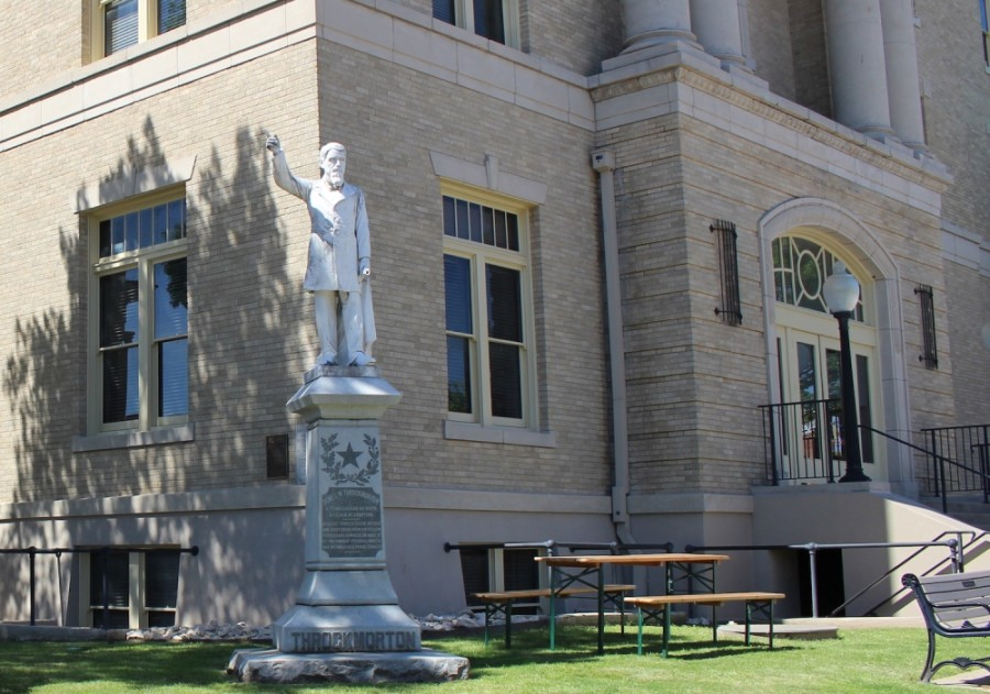 Findings from the Throckmorton statue advisory board will be made in late October. (Miranda Jaimes/Community Impact Newspaper)