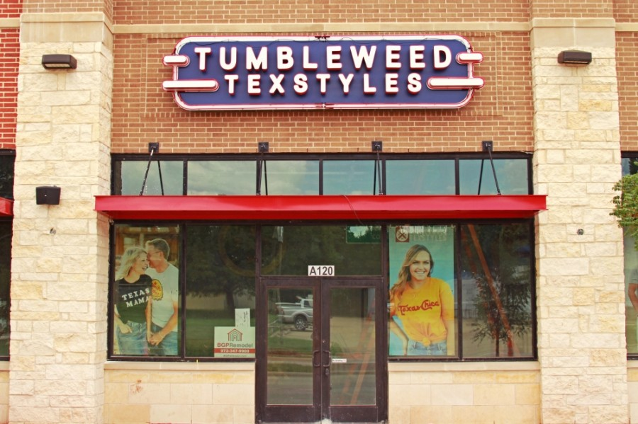 The store located at The Patios at the Rail will offer a variety of Texas t-shirts, hats and gear for purchase. (Courtesy Tumbleweed TexStyles)