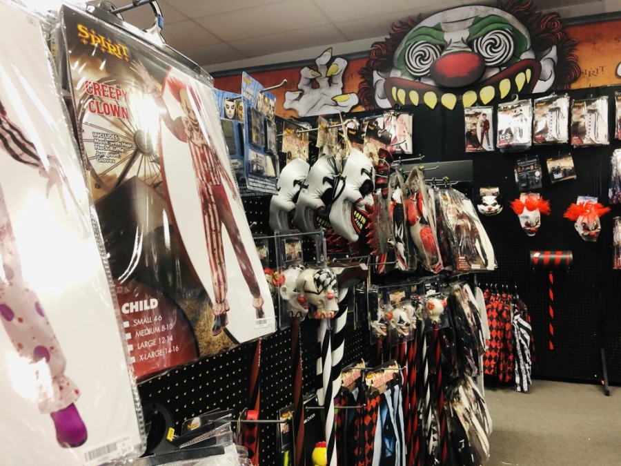 Spirit Halloween, located near Hwy. 377 and North Tarrant Parkway, has a large selection of Halloween costumes and decorations for all ages. (Ian Pribanic/Community Impact Newspaper)