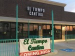 This photo, which was taken in early August, shows the upcoming El Tiempo Cantina in Kingwood. (Kelly Schafler/Community Impact Newspaper)