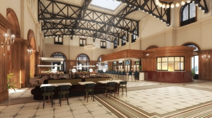 Harvest Hall will have seven kitchens in total as well as a bar area. (Courtesy LDWW Group)