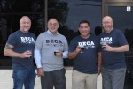 From left: Owners Jeff Angell, Jason Dornik, Cody Evens and Heath Cleaver will open DECA Beer Co. in early 2021. (Courtesy DECA Beer Co.)