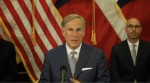 Gov. Greg Abbott at a press conference