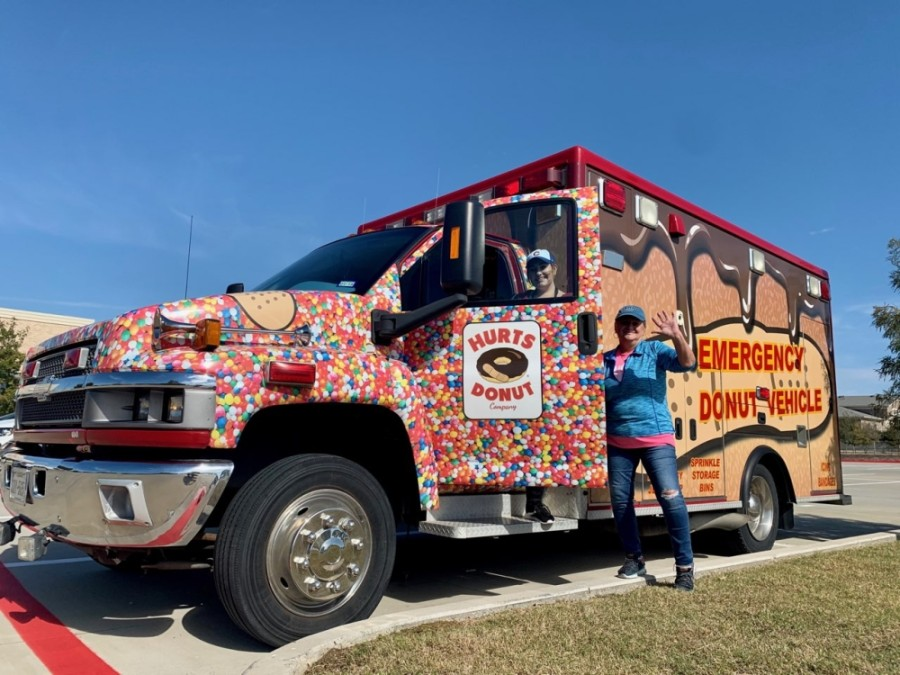 The Emergency Donut Vehicle makes regular visits to local neighborhoods on behalf of Hurts Donut Co. (Courtesy Hurts Donut Co.)