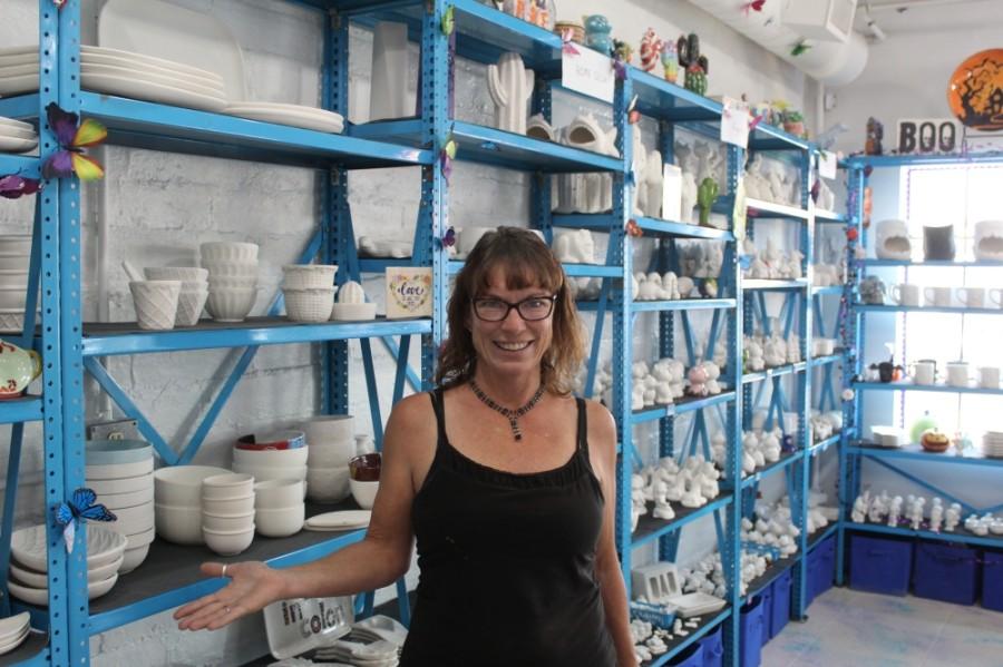 Cheryl Tisland is the owner of Burst of Butterflies in downtown Chandler. (Alexa D'Angelo/Community Impact Newspaper)