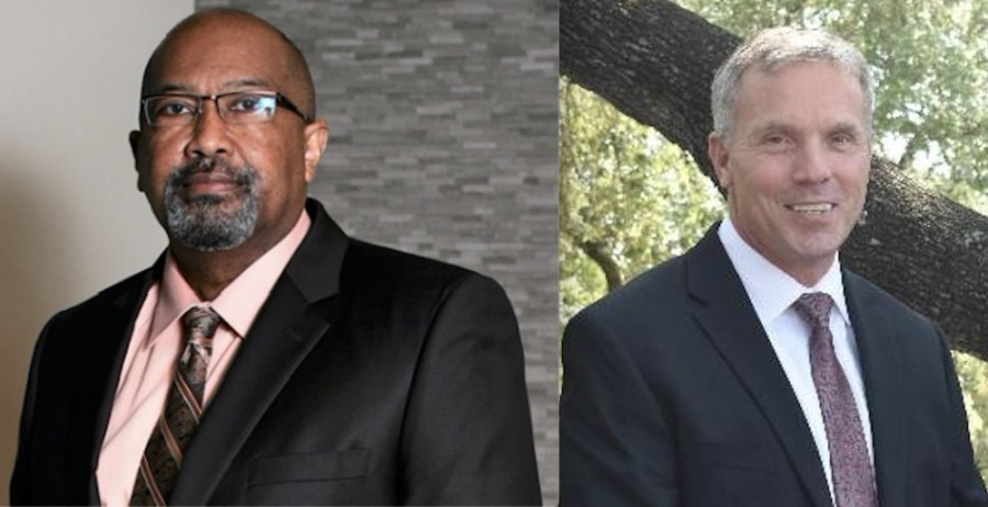 Robert Brown (left) and Stan Standridge are the two finalists to be the new chief for the San Marcos Police Department. (Courtesy city of San Marcos)